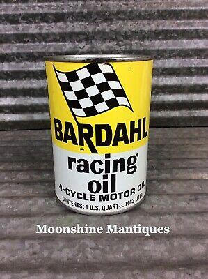 FULL 1960's BARDAHL Racing Motor Oil Can - 1 Quart