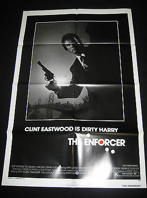 THE ENFORCER 1977 * CLINT EASTWOOD * DIRTY HARRY * ONE SHEET * C10 MINT UNUSED!