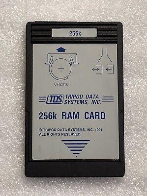 Tds 256k Ram Card For Hp 48gx Calculator Battery Backed
