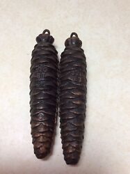 A pair of antique German Black Forest Cuckoo Clock Weights