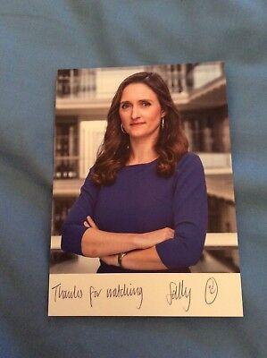 SALLY BIDDULPH (ITN NEWS) SIGNED CAST CARD