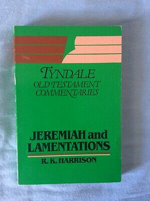Jeremiah & Lamentations by Roland Harrison, Tyndale Commentary (Paperback, 1973)