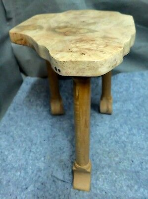 HAND MADE SOLID MAPLE 3 LEG STAND 17 inches tall 17 by 12.75 across the top ()