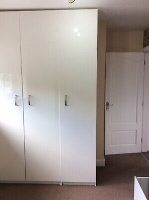 Large Floor To Ceiling White Single Wardrobe IKEA