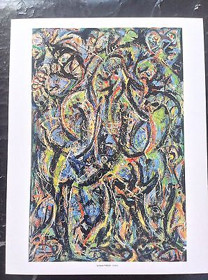 Jackson Pollock PRINT Vintage 2006 Abstract Expressionist Art Gothic Harsh Ugly