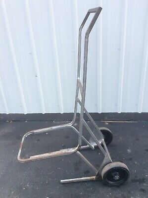 Vintage Steel Stacking Chair Cart On Wheels - Very Good