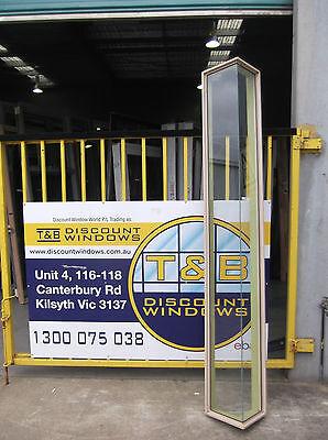 Aluminium Corner Fixed Window 2370H x 615W (Item 1387/3) Paperbark