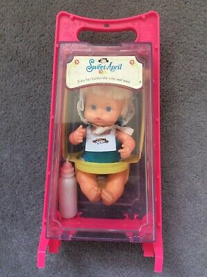 vintage Sweet April Doll In Swing Case And Original Bottle And Outfit