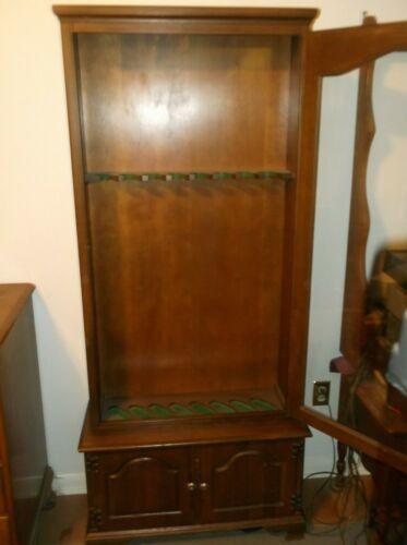 Vintage Wood Gun Cabinet Display Case