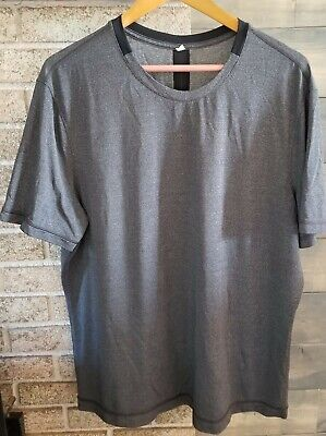 LULULEMON Men's XL- dark Gray Short Sleeve T Shirt