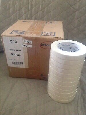 12 Rolls Intertape 513 34 Utility Natural Masking Tape 8721718mm X 54.8m Usa