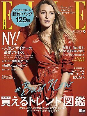 ELLE Japon 2016 Sep 9 Women's Fashion Magazine Japan Book Blake Lively