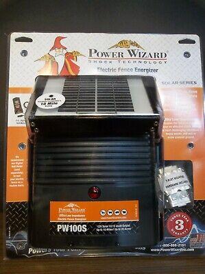 Power Wizard Solar Electric Fence Energizer Pw100s 12v Ships Internationally