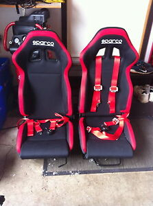 Two Racing Sparco Seats