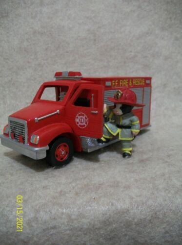 Fire & Rescue Truck - Fireman - Cow Figurine