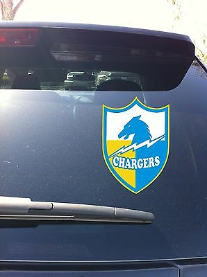 San Diego Chargers Vinyl - 09-02 San Diego Chargers Bolts 1961-1973 Shield SD Window vinyl sticker decal