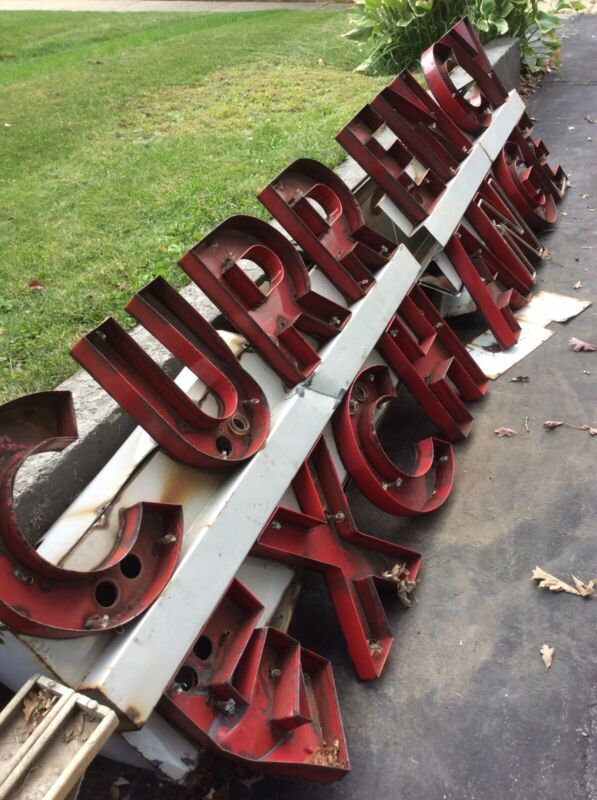 RARE Vintage Porcelain Letters  HUGE Sign