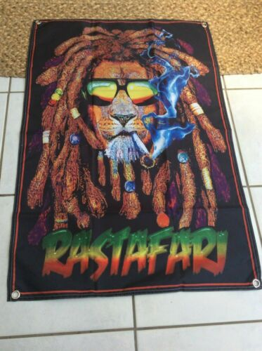 NEW..Jamaican, Rasta Colour, Lion of Judah, Banner/Cloth Textile  Poster,.......