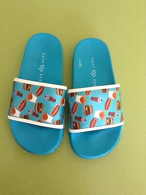 Katy Perry Sliders Size 11.5 Brand New, Blue Slides