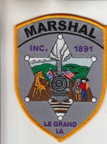 LE GRAND MARSHAL TRAIN SCENE POLICE PATCH IOWA IA