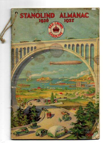 Vintage 1926-1927 Stanolind STANDARD OIL Red Crown Gasoline ALMANAC ZEPPELIN Cov