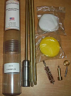 Emssbpk75 .75 Cal. Deluxe Brass Black Powder Gun Cleaning Field Kit 10/32