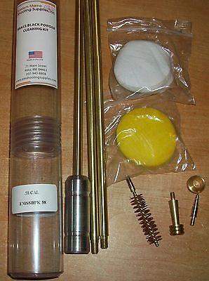 Emssbpk58 .58 Cal. Deluxe Brass Black Powder Gun Cleaning Field Kit 10/32