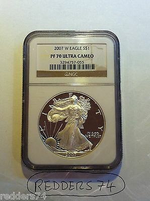 2007-W LIBERTY EAGLE $1 ONE DOLLAR SILVER PROOF 1oz COIN NGC PF70 ULTRA CAMEO