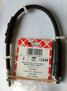 2-FIAT-DUCATO-10-14-15-18-FRONT-BRAKE-FLEXI-HOSE-71736954-12249-NEW-FEBI-GERMAN