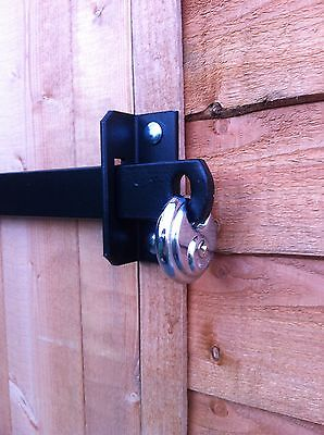 METAL SHED LOCK BAR, STABLE / GARAGE / OFFICE DOOR SECURITY - HEAVY DUTY STEEL