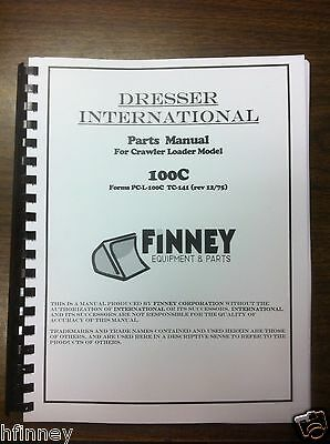 International Dresser 100c Crawler Loader Parts Manual Book Pc-l-100c Tc-141 Ih