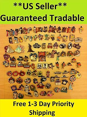 Disney Pins Lot of 100 ** US Seller** 1-3 Days FREE Shipping*Guaranteed Tradable on Rummage