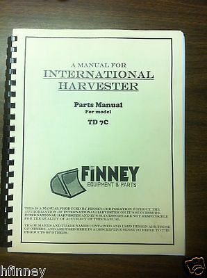 Ih International Dresser Td7c Crawler Dozer Parts Manual Book Tc-140 New