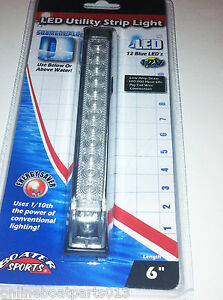 BLUE-UNDERWATER-LED-BOAT-LIGHT-6-INCH-12-LEDS-UTILITY-STRIP-LIGHT