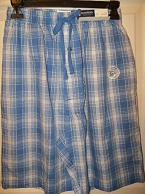 Stafford Coast Blue White PL Sleep Shorts Boxers Pajama PJ Mens Size Small NWT