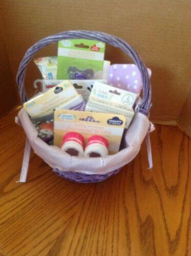 Welcome New Baby - Baby Shower Gift Basket - Baby Girl