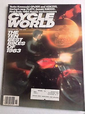 Cycle World Magazine Best Bikes Of 1983 November 1983