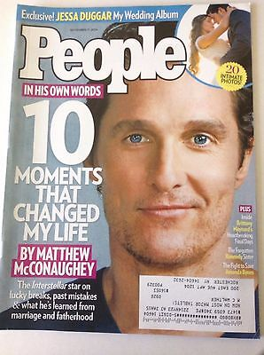 People Magazine Matthew Mcconaughey Jessa Duggar November 17  2014 051517Nonrh