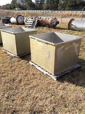 Approx 160 Gallons Open Top Stainless Steel Rectangular Tank