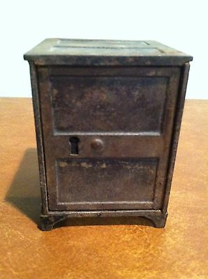 Antique Vintage Cast Iron Safe Still Bank