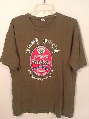 Angkor Beer L logo t-shirt Cambodia Cambrew hipster Siem Reap Khmer Angkor Wat