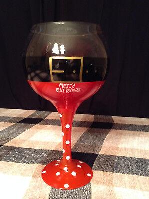 Giant Decorative Santa Wine Glass (Giant Wine Glass Decoration)