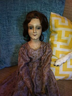 antique boudoir doll with glass eyes Rare!