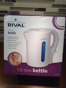 Rival 1.0 Litre electric water kettle