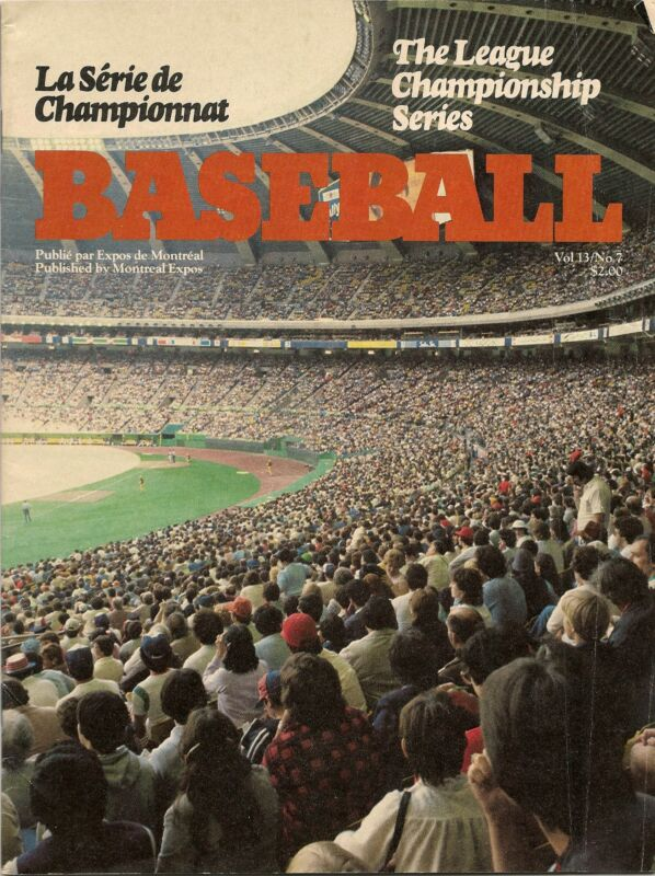 1981 Montreal Expos-Dodgers NLCS Program Dodgers Win Series RARE!!