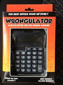 Wrongulator! Calculator that always gives incorrect answer! Carina Brisbane South East Preview