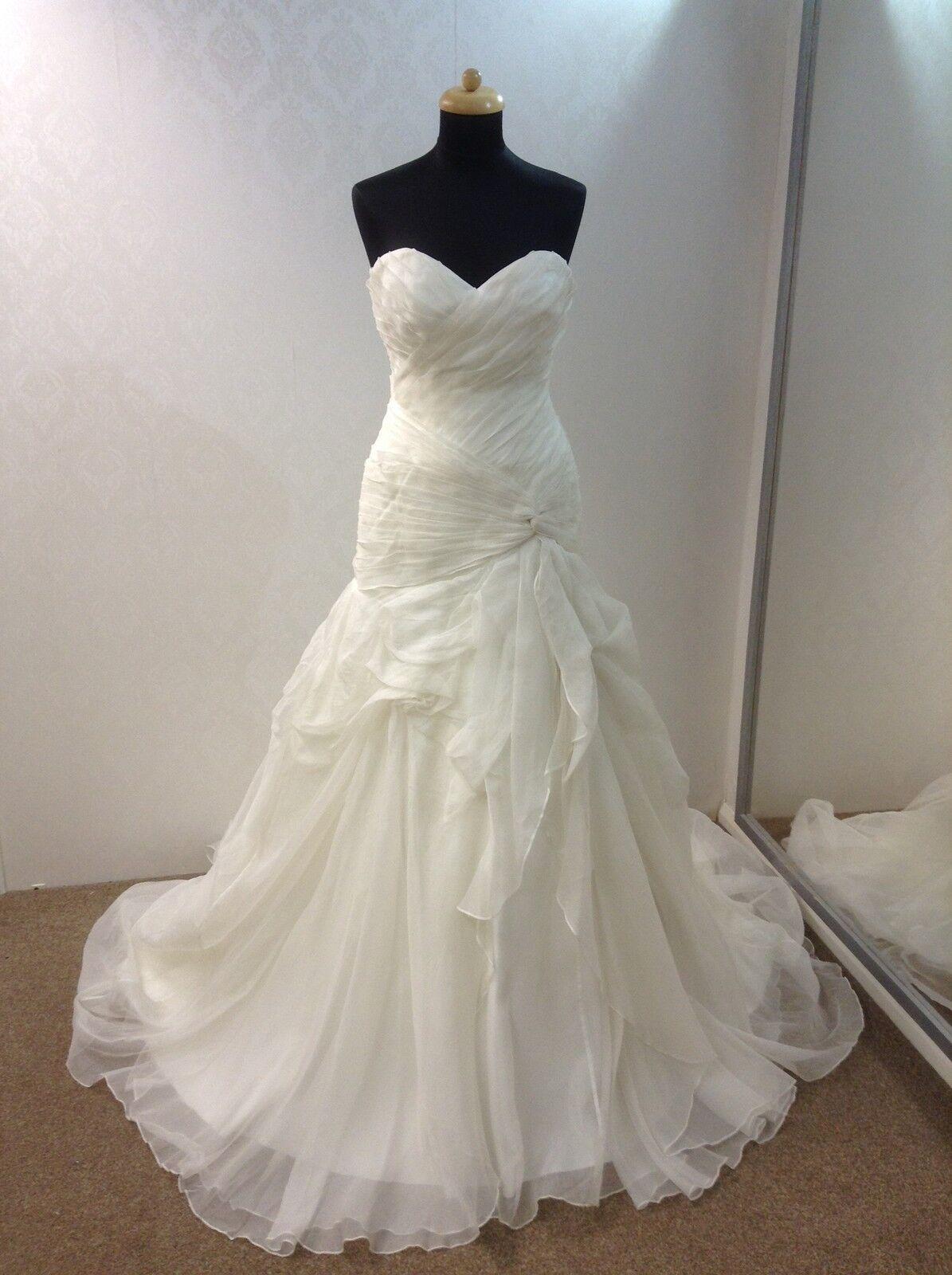 Mermaid Wedding Bridal Dress CHIC by HOLLYWOOD DREAMS CH013 - Ivory - Size 12
