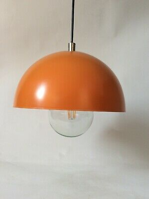 LAMPE SUSPENSION MÉTAL ORANGE  VINTAGE  POP PHILLIPS 60's