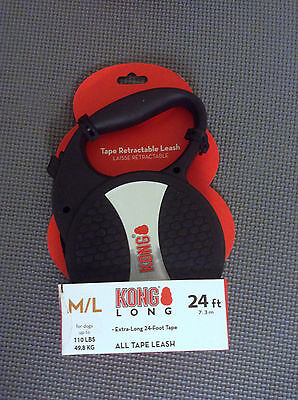 KONG Comfort Long Leash for Dogs Up To 110 lbs, 24 ft. UPC: 737257671508