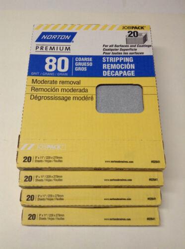 Norton 02641 Sandpaper Sheets 80 Grit (80 Sheets)